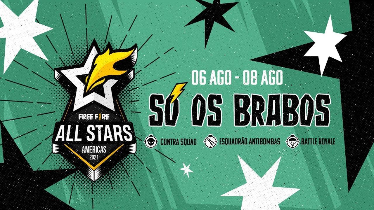 Free Fire All Stars Américas 2021, batalha entre pro players e streamers, acontece em 06 de agosto