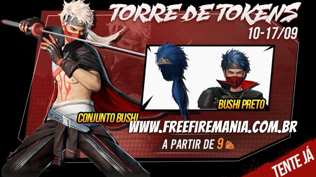 Free Fire: Conjunto Bushi e Bushi Preto chegam nesta sexta (10), veja como conseguir