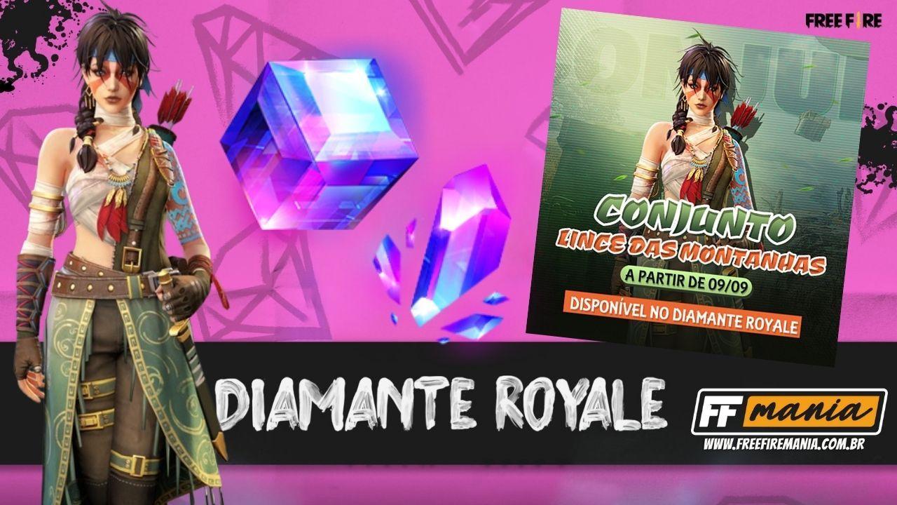 Free Fire: Conjunto Lince das Montanhas é a nova atração do Diamante Royale; saiba tudo