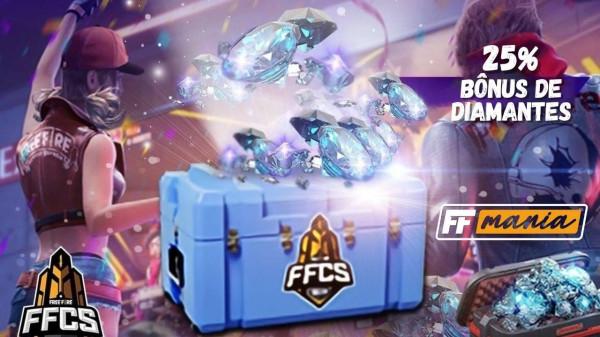 Free Fire dá 25% de Diamantes Extras no site Recarga Jogo