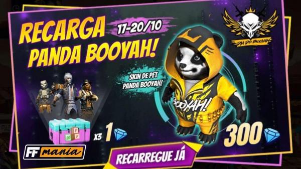 Free Fire: disponível a nova Recarga do Panda Booyah!