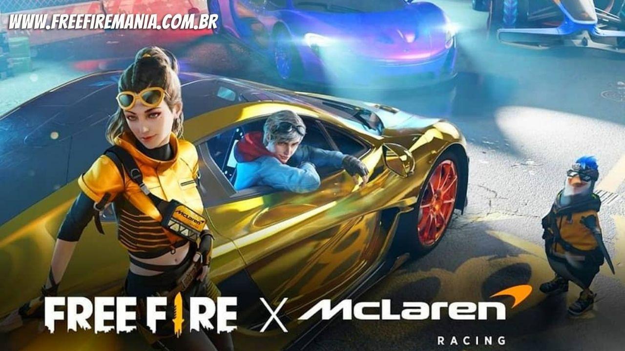 Free Fire e McLaren: pilotos Lando Norris e Daniel Ricciardo anunciam parceria exclusiva