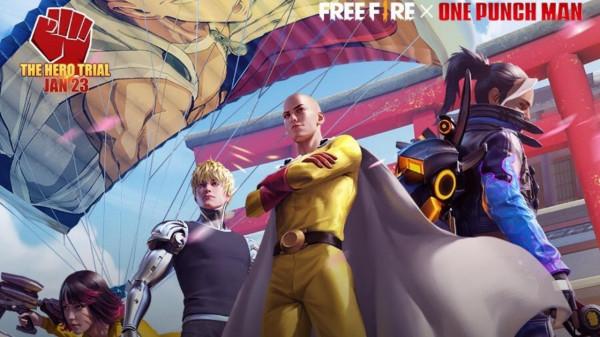 Free Fire e One Punch-Man: confira as datas, eventos, itens e skins disponíveis