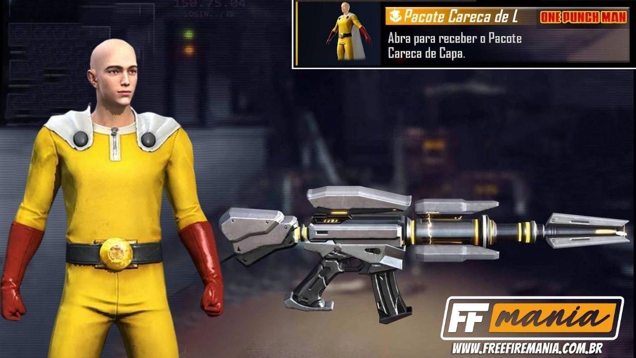 Free Fire e One Punch Man: vazaram os novos pacotes e skins da parceria