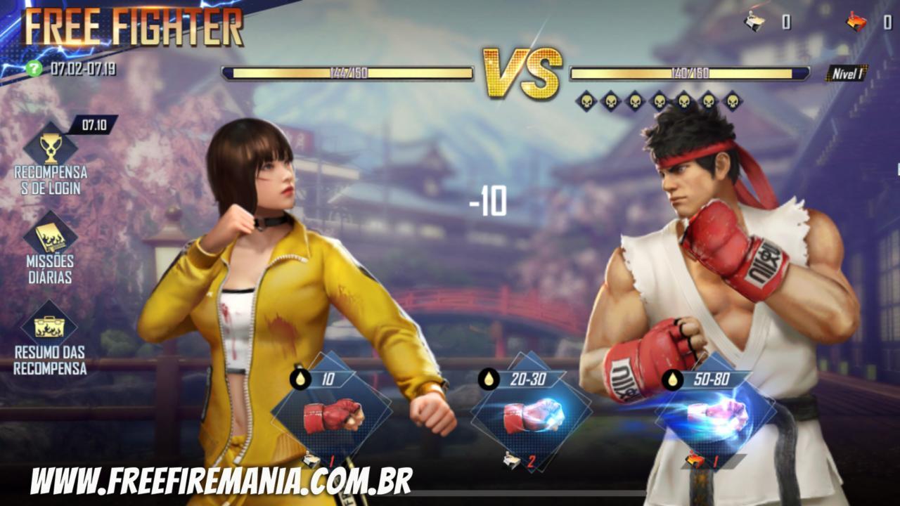 Free Fire e Street Fighter: como conseguir token Controle Branco e Vermelho para dar socos no evento
