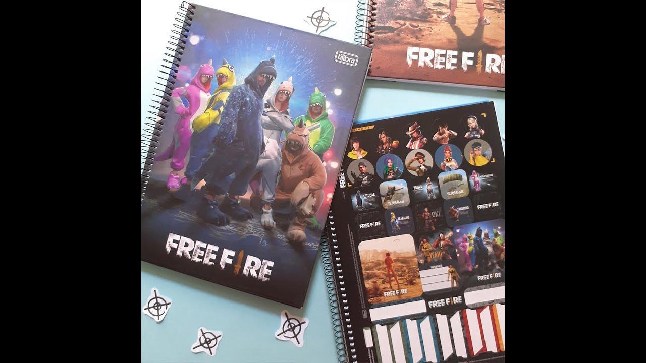 Free Fire e Tilibra lançam cadernos universitários com a marca do Battle Royale, veja como comprar