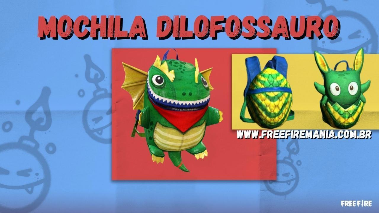 Free Fire: evento de recarga de diamantes traz inédita skin da mochila Dilofossauro