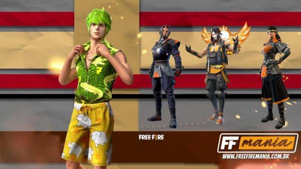 Free Fire: evento Rave de Prêmios traz inédito pacote Onda de Verão e outras skins de volta!