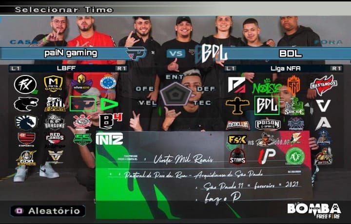 Free Fire (FF): Bomba Patch cria versão com times do Battle Royale, jogadores LBFF e NFA
