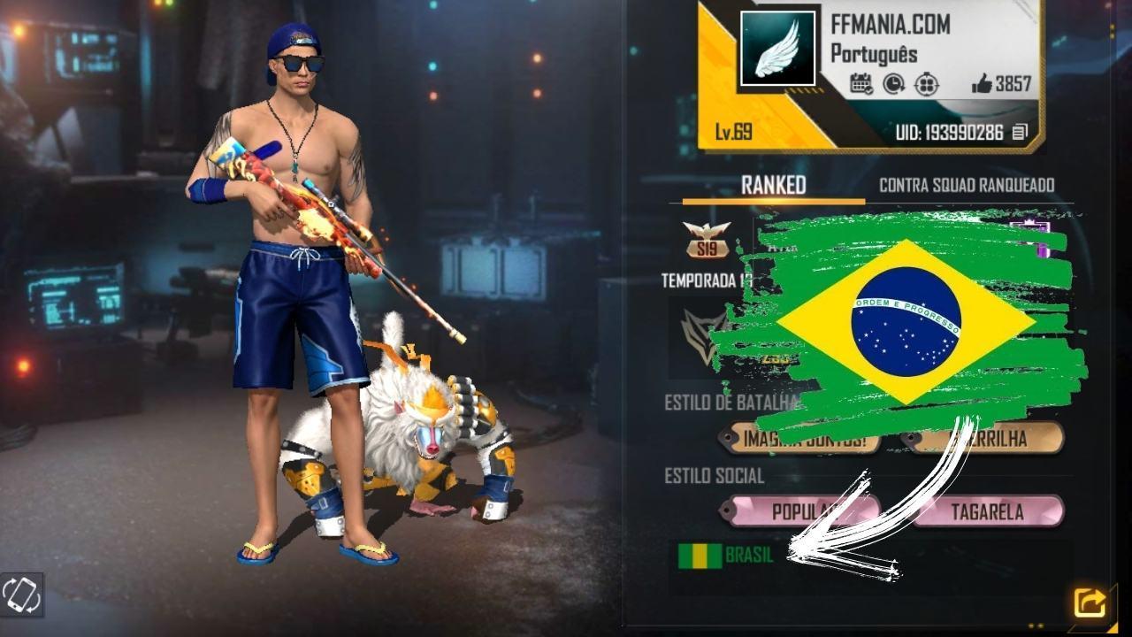 Free Fire (FF): cara memasang kode bendera Brasil dan negara lain di profil Anda
