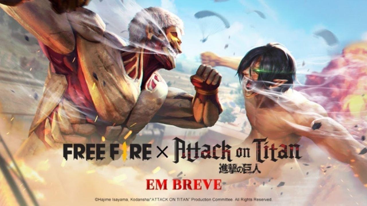 Free Fire (FF) e Attack on Titan (Shingeki no Kyojin): confira as skins que chegam com a parceria