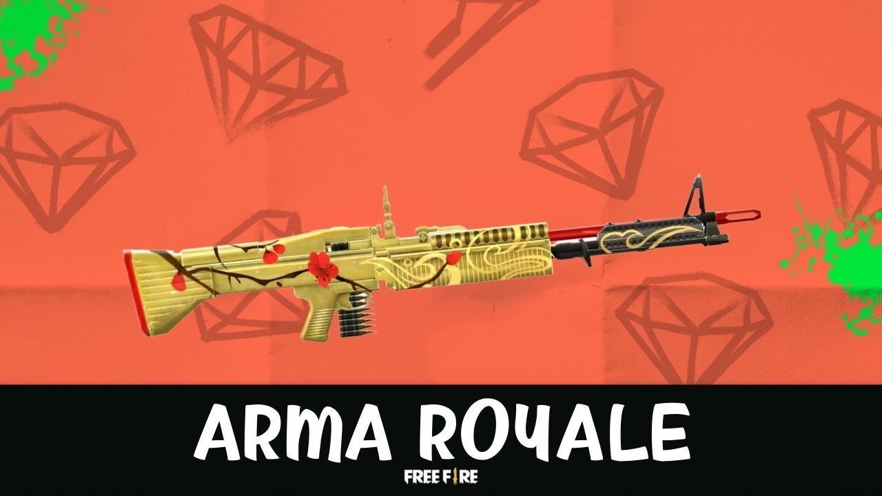 Free Fire (FF): novo Arma Royale traz inédita skin da M60, Herdeiros de Kami