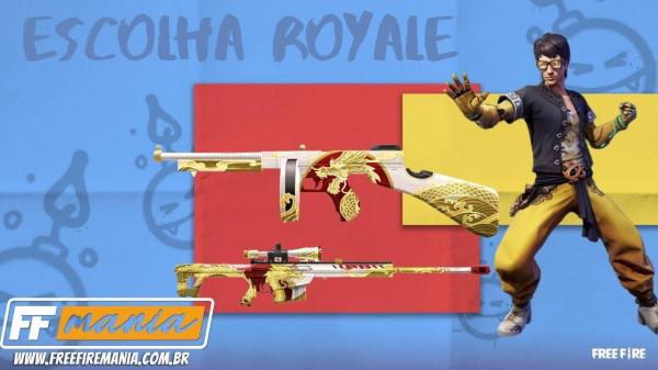 Free Fire (FF): novo Escolha Royale traz skins da Thompson e Barret M82B Dragão Branco