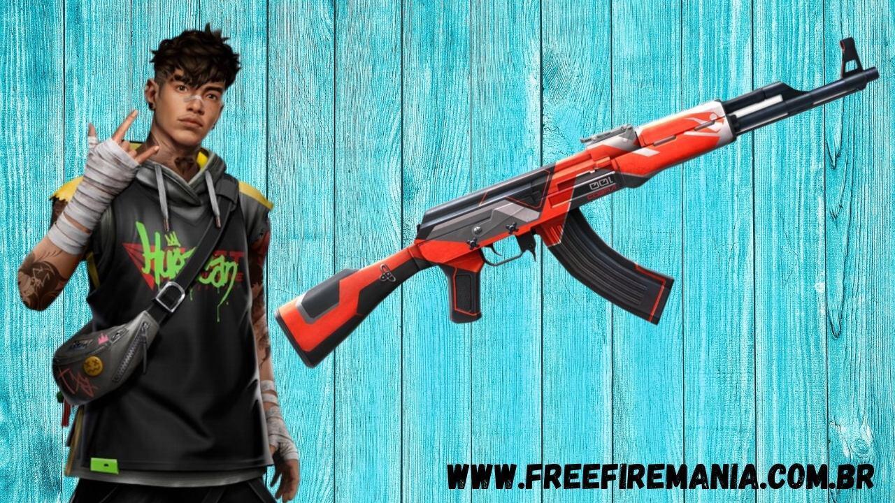 Free Fire (FF): Shiro e skin da AK47 serão entregues de graça, veja como conseguir