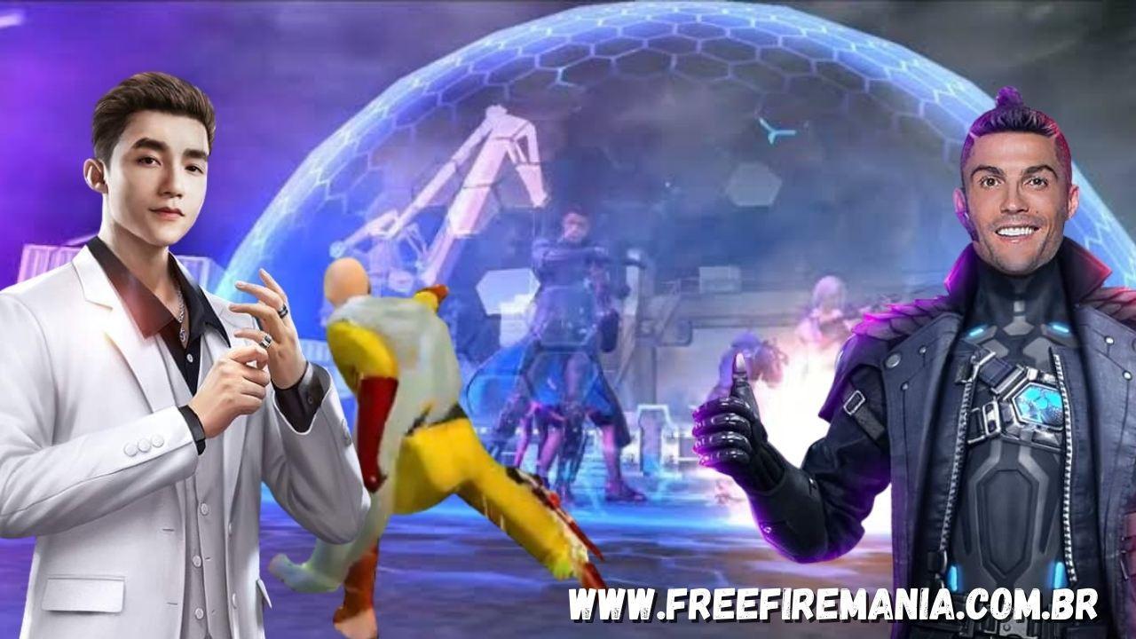 Free Fire: #ForaCR7 está em todo lugar, mas a Garena já pode ter a solução para o personagem Chrono
