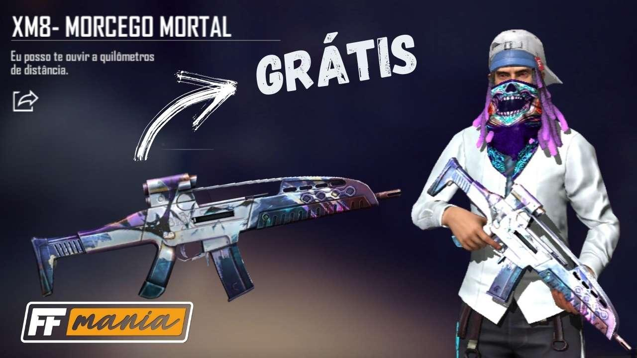 Free Fire: Garena libera skins das armas Morcego Mortal grátis