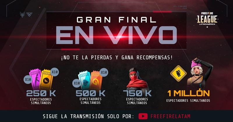 Free Fire League LATAM: Garena libera todas as recompensas da meta de visualizações