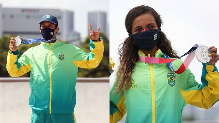 Free Fire: medalhistas de prata nas Olimpíadas, Rayssa Leal e Kelvin Hoefler jogam o Battle Royale
