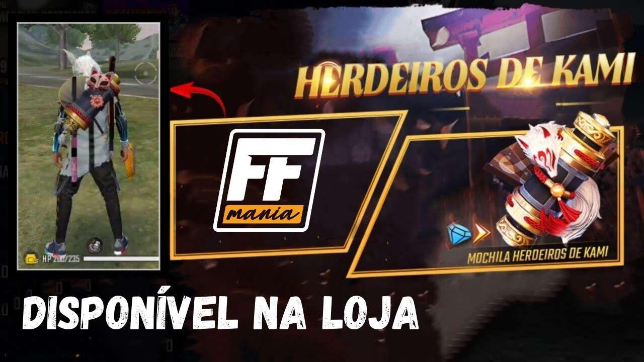 Free Fire: Mochila Herdeiros de Kami disponível na Loja do jogo