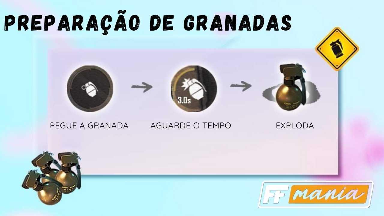 Free Fire: Nova função Preparação de Granadas