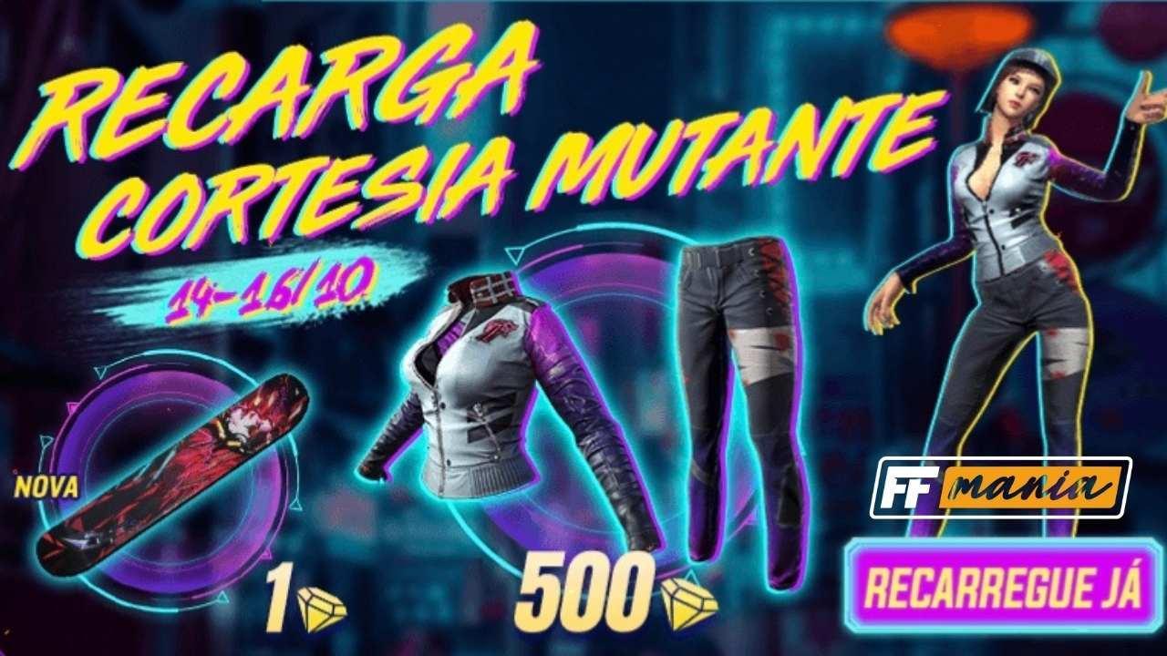 Free Fire: novo evento de recarga traz a nova skin Cortesia Mutante