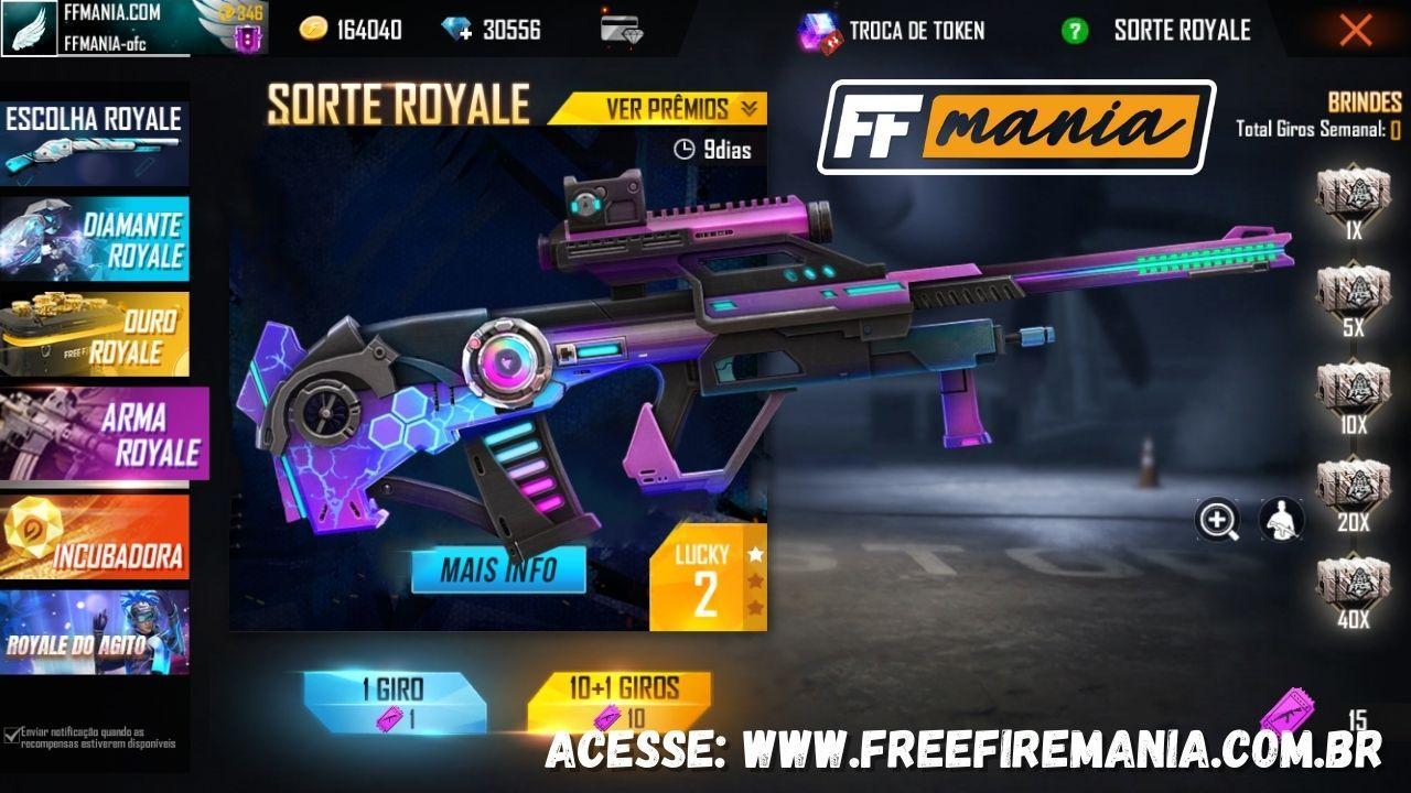 Free Fire: novo Royale traz a AUG Agentes Cósmicos
