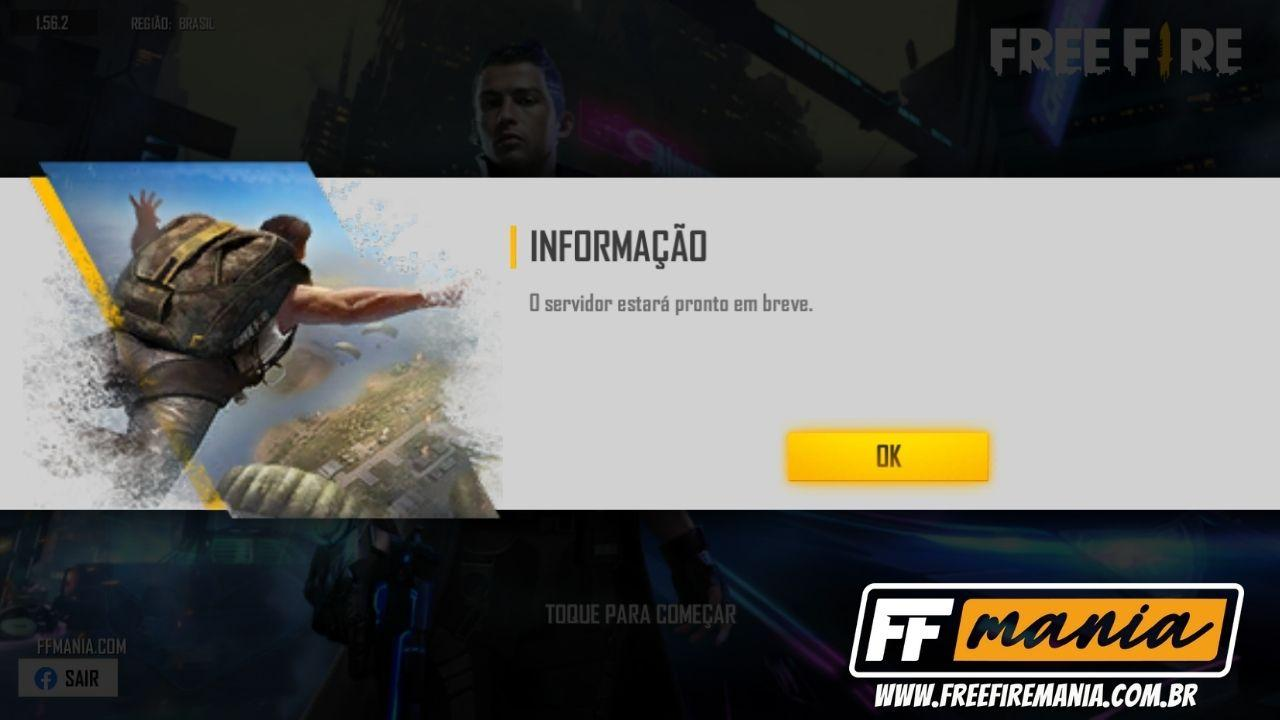 Free Fire: O servidor estará pronto em breve