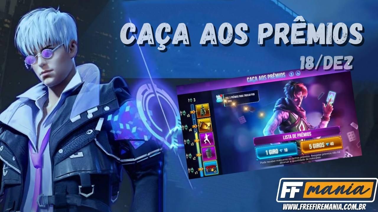 Free Fire: Pacote Agente Cósmico e Punho Congelante é a atração do evento Caça aos Prêmios