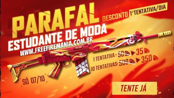 Free Fire: PARAFAL Student of Fashion will be the new skin of Sorte Royale