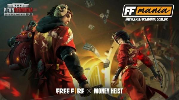 Free Fire: parceria com La Casa de Papel está de volta, veja como conseguir o Plano Bermuda Shinobi