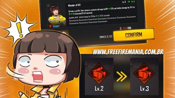"""Free Fire: personagens não serão """"upados"""" com Ouro a partir da atualização de Abril, confira!"""