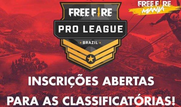 Free Fire Pro League - Classificatórias do Mundial - Inscrições