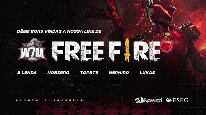 Free Fire Pro League - Lendários agora é W7M Gaming, Conheça a Equipe