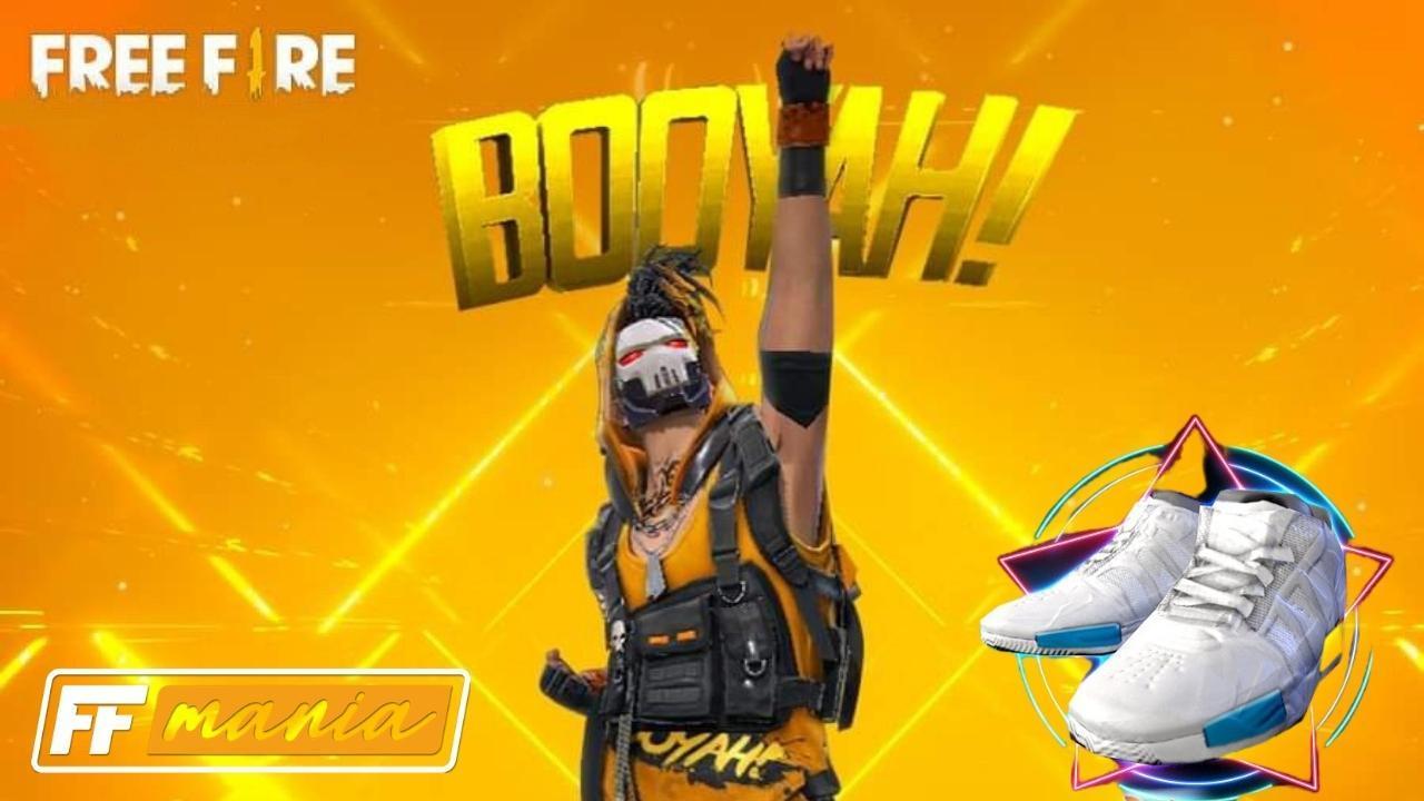 Free Fire: Prova da Bexiga traz o inédito Emote BOOYAH e tênis Swifts de volta!