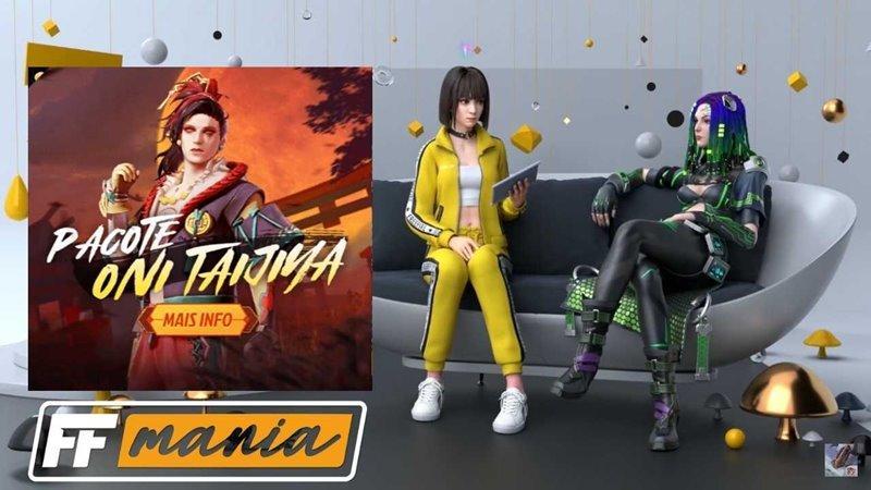 Free Fire: Próximo Diamante Royale recebe o pacote Oni Taijiya