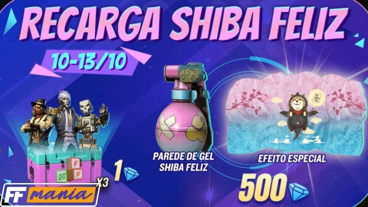 Free Fire: Recarga Shiba Feliz com o novo Gel