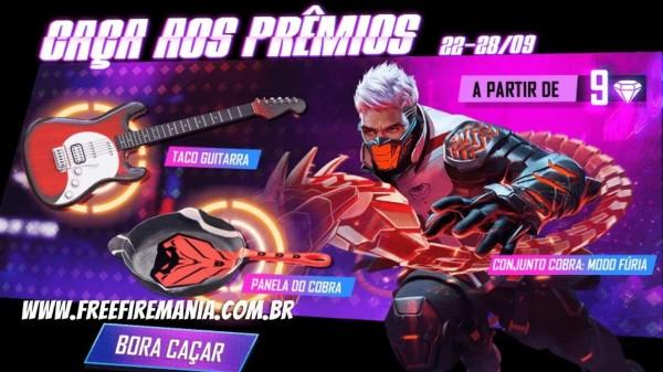 Free Fire: Taco Guitarra e pacote Cobra retornam ao Free Fire, veja como conseguir