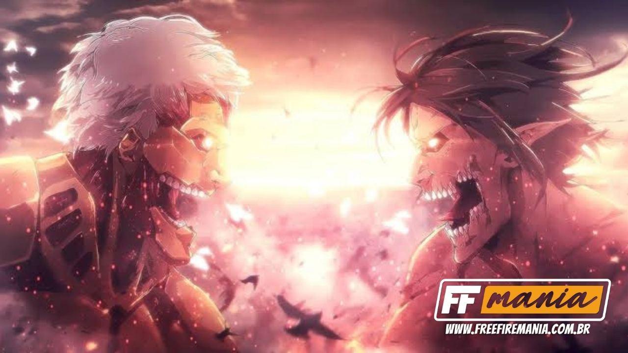 Free Fire x Attack on Titan: evento com Shingeki no Kyojin terá seu pico em 27 de março