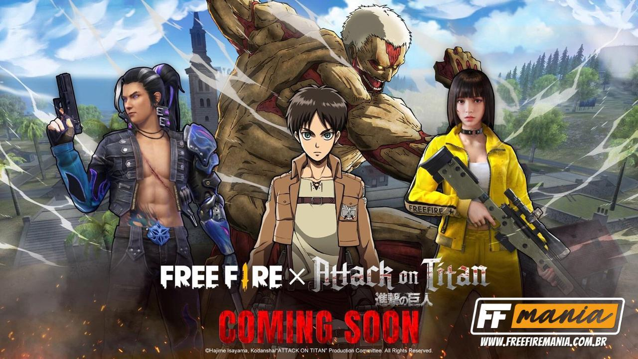 Free Fire x Attack on Titan: Garena anuncia parceria entre o Battle Royale e a série de anime