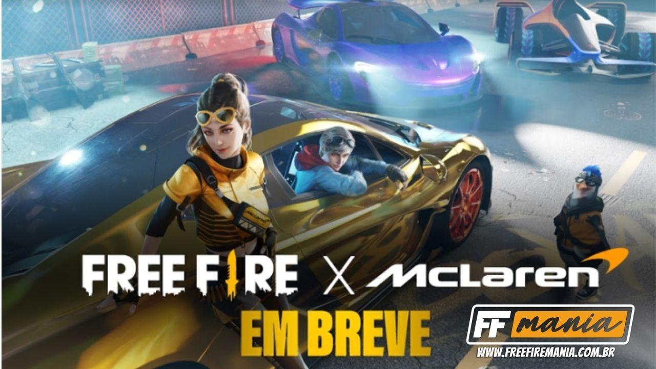 Free Fire x McLaren: parceria trará novo veículo