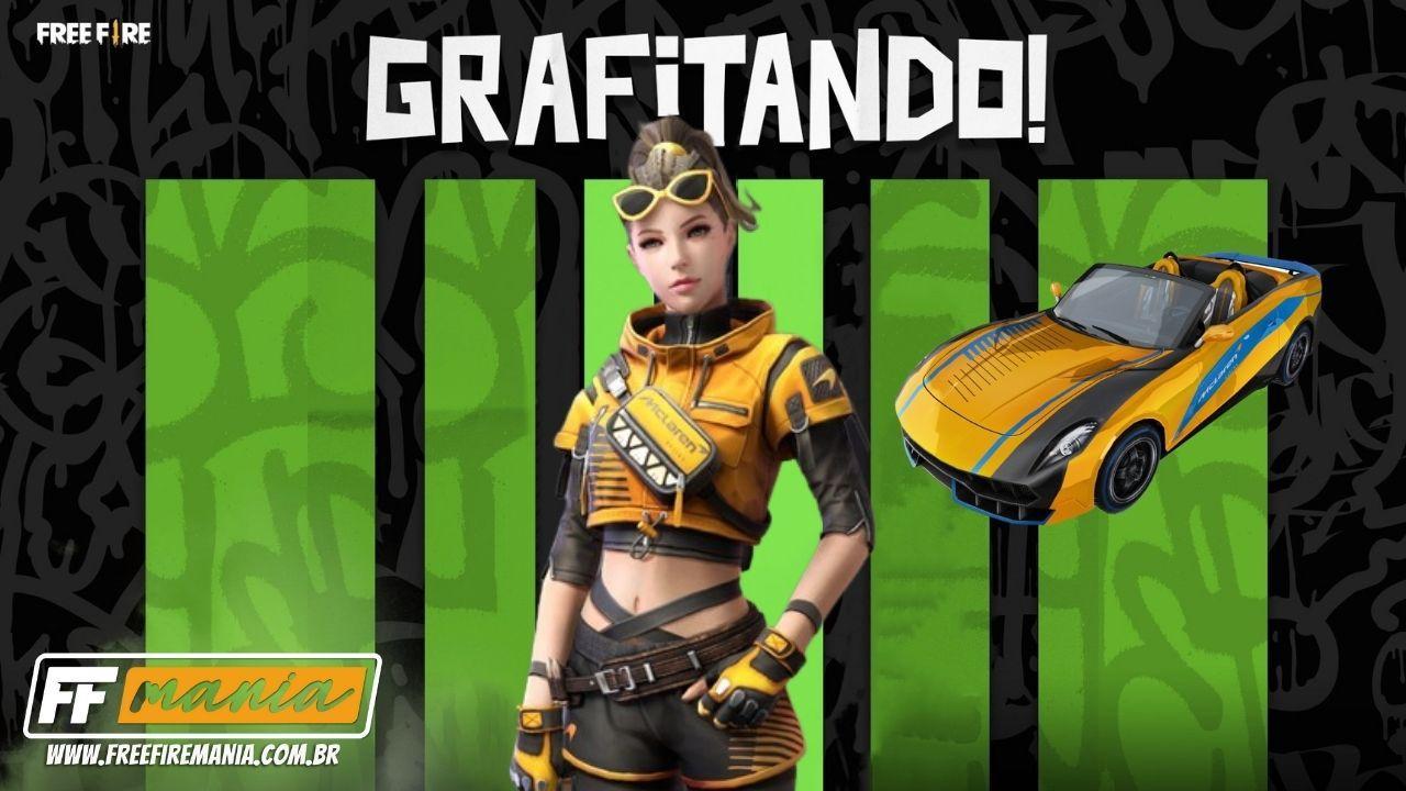 Free Fire x McLaren: primeiras skins temáticas chegam no evento Grafitando
