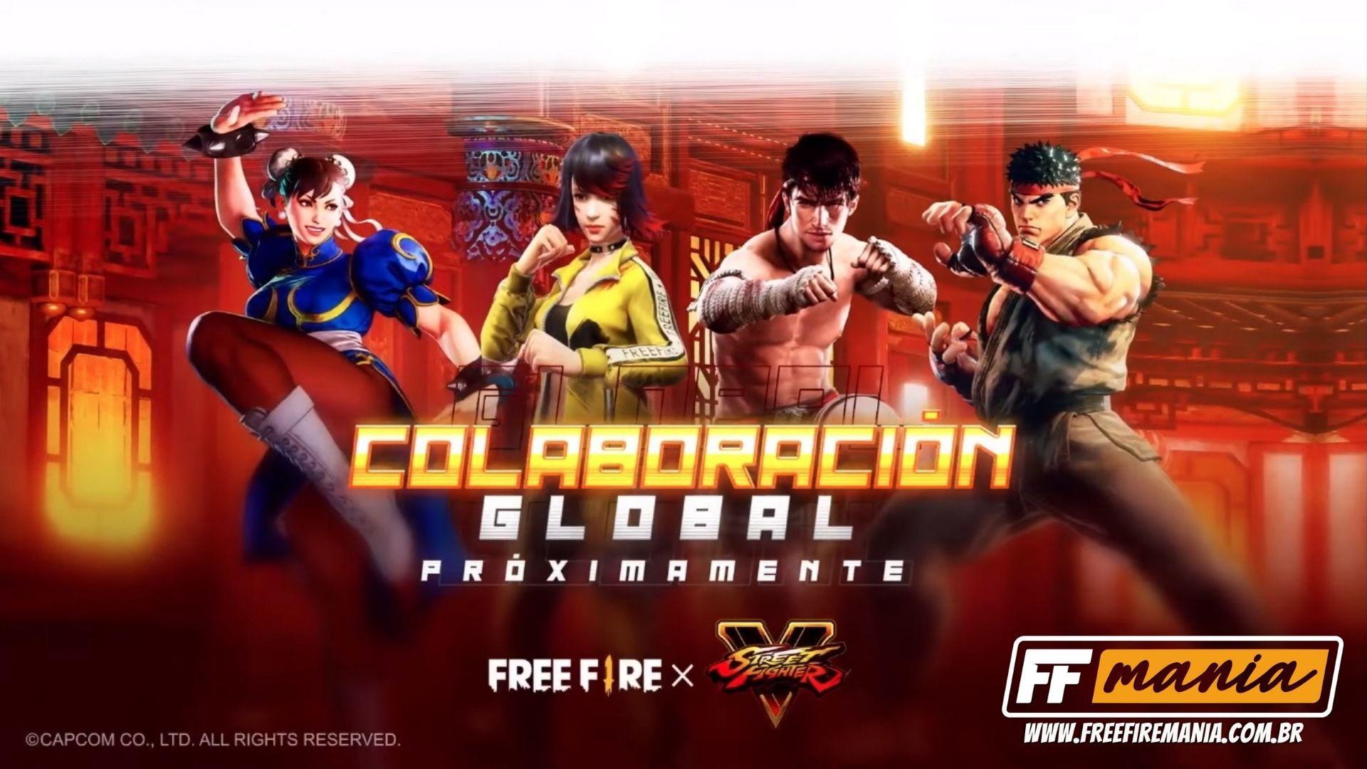 Free Fire x Street Fighter: uma colaboração épica acontecerá! Confira o vídeo trailer da parceria