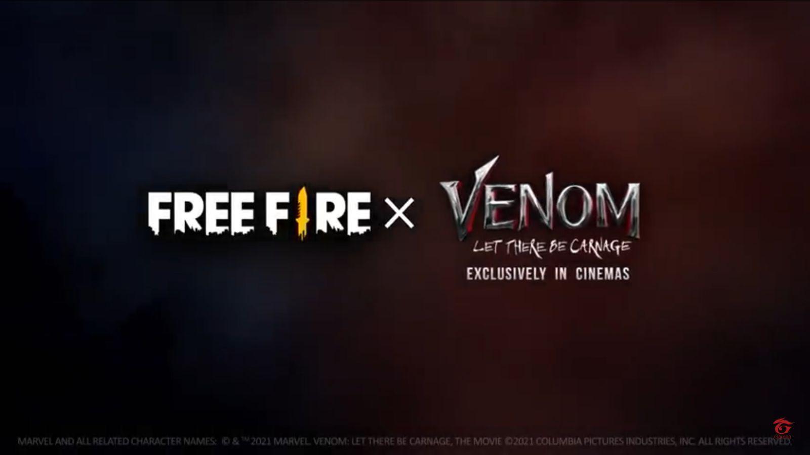 Free Fire x Venom: Logomarca do Free Fire aparece em trailer do filme