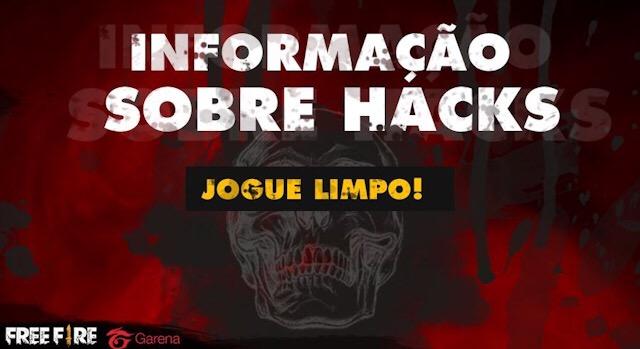 Garena BR fala sobre os Hacks