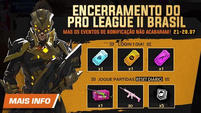 Garena BR libera mais prêmios da Pro League