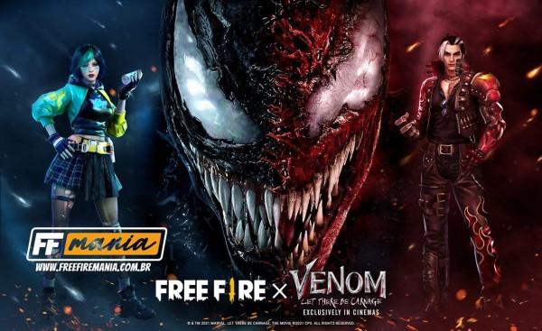 Garena Free Fire divulga primeiras imagens da parceria com a Marvel e o filme Venom 2