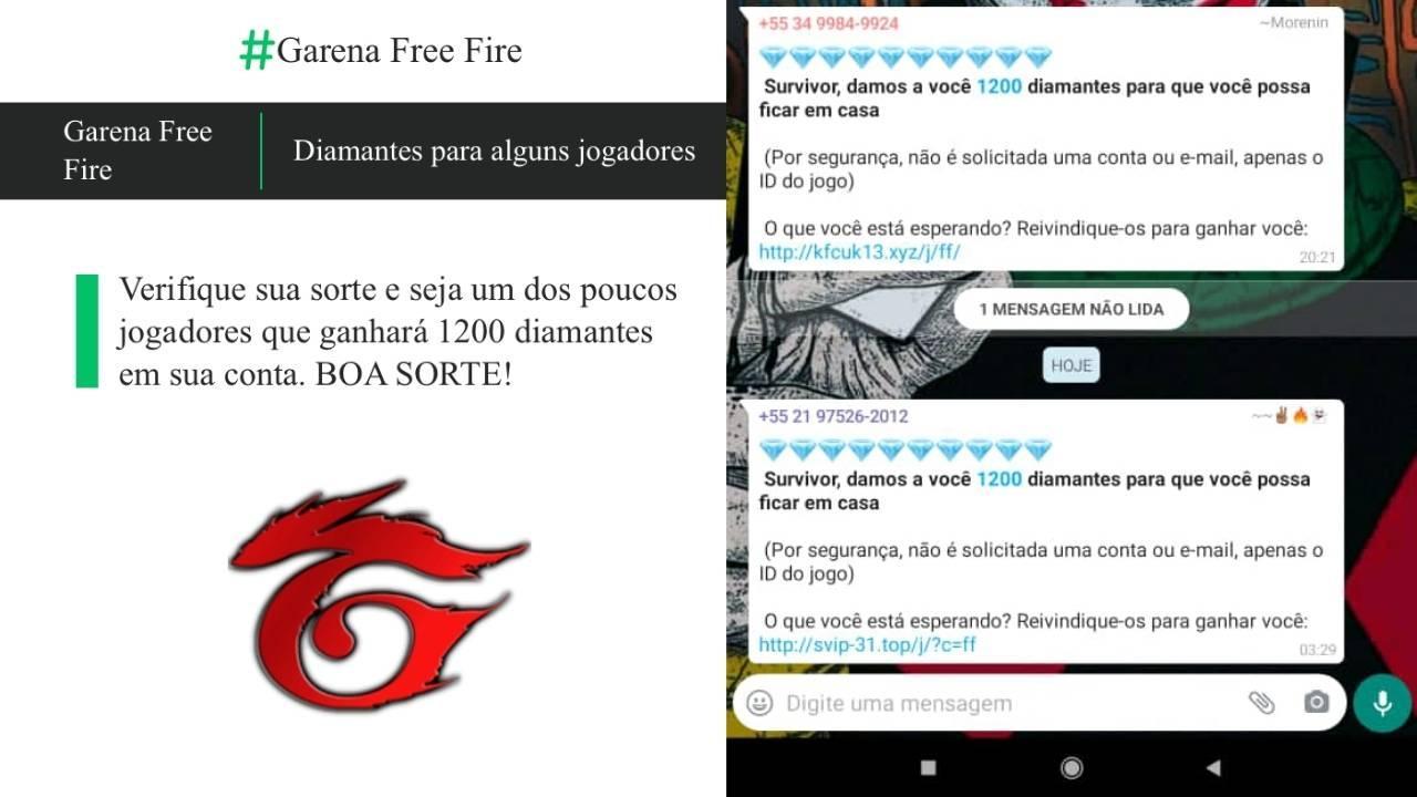 Garena Free Fire está dando 1200 diamantes?