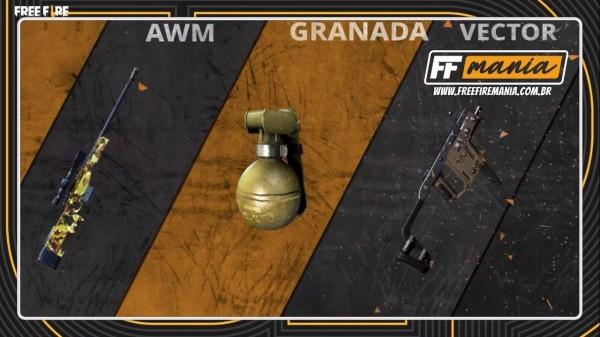 Garena Free Fire reduz em 25% o dano da Granada, Vector, SPAS12, AWM, P90 também mudam, confira