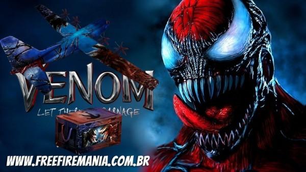 Garena Free Fire x Venom da Marvel: imagens e itens são vazados, confira tudo sobre a parceria