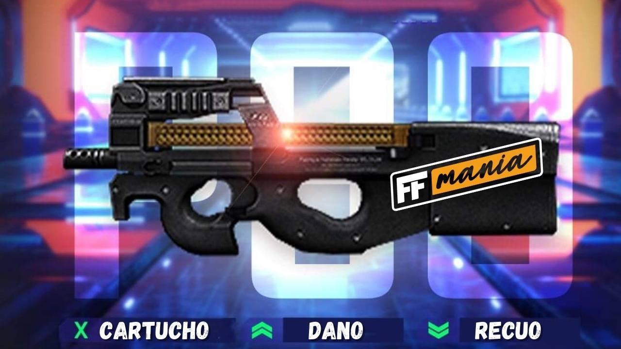 Garena muda atributos da P90 e arma fica mais forte no Free Fire